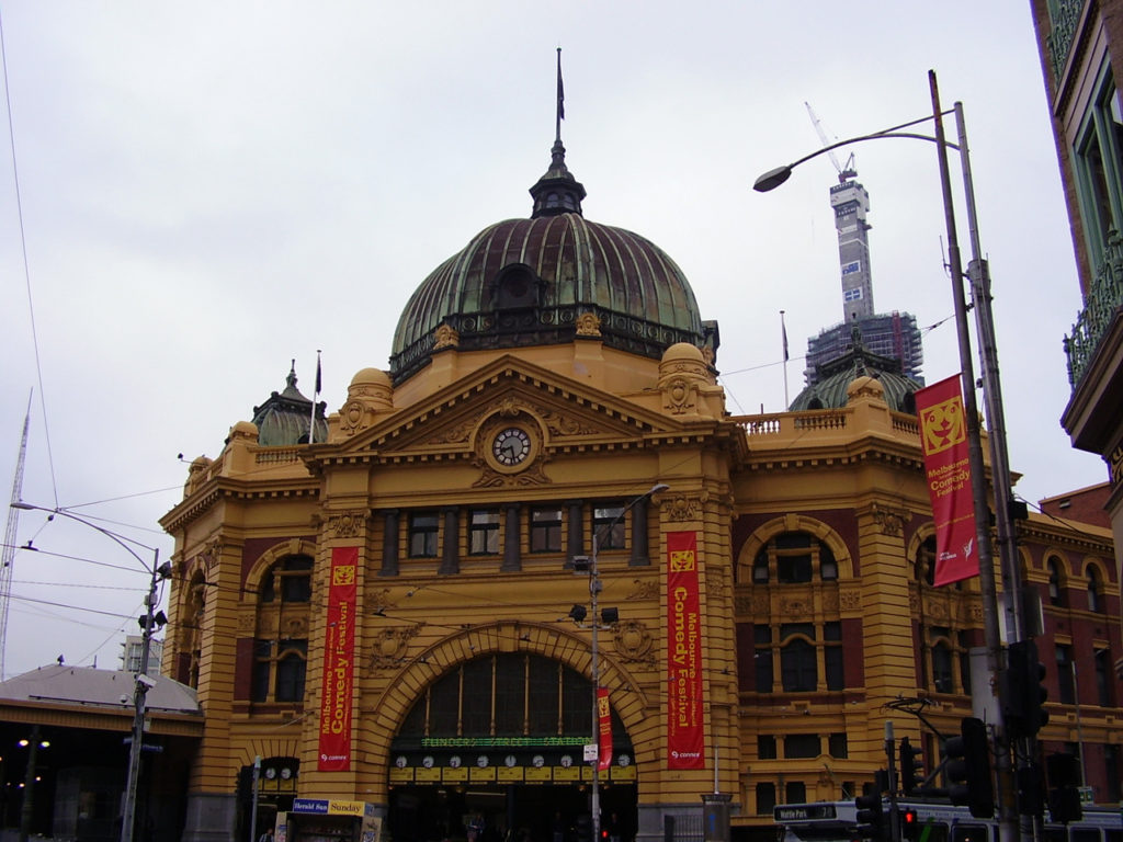 เดินทางในเมลเบิร์น Flinders Street Station