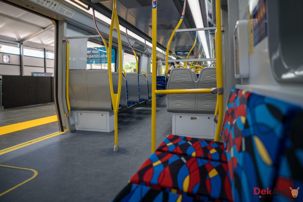 interior of new melbourne train
