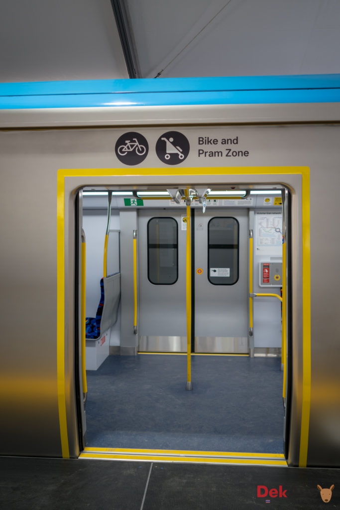 more variety use of new melbourne train for bike and pram zone